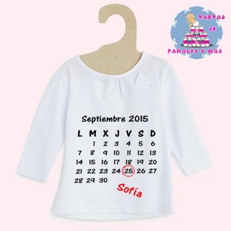 Camiseta calendario chica