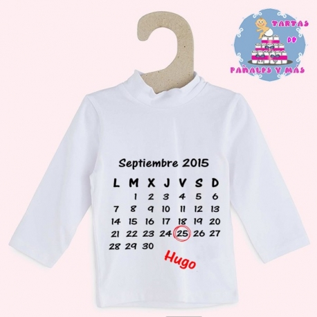Camiseta calendario chico