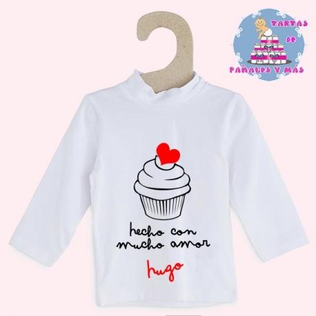 Camiseta cupcake chico