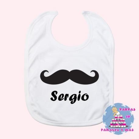 Babero moustache