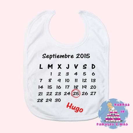 Babero calendario