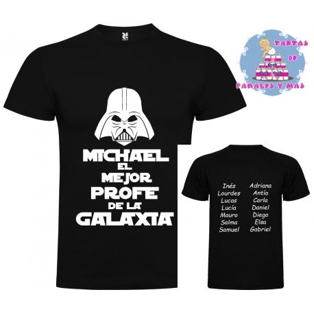 Camiseta MEJOR PROFE DE LA GALAXIA + Caja regalo