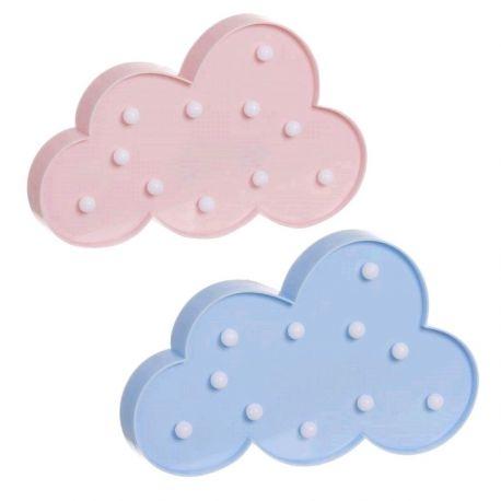 Nube de leds rosa o azul
