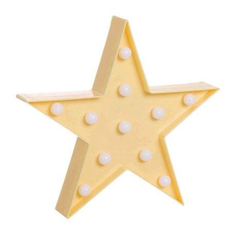 Estrella de leds amarilla