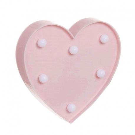 Corazón de leds rosa