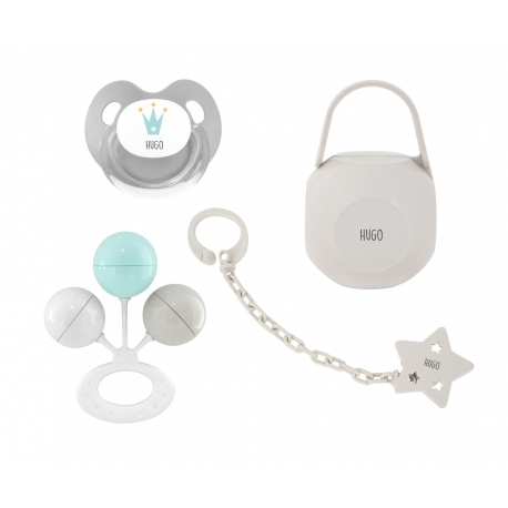 Pack personalizado sonajero gris