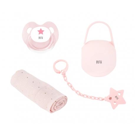 Pack personalizado muselina rosa