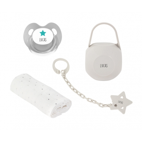 Pack personalizado muselina gris