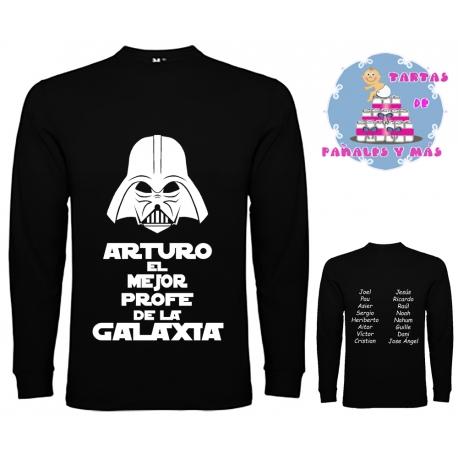 Camiseta M. LARGA - MEJOR PROFE... + Caja regalo