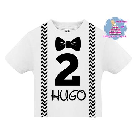 Camiseta SEGUNDO cumpleaños TIRANTES