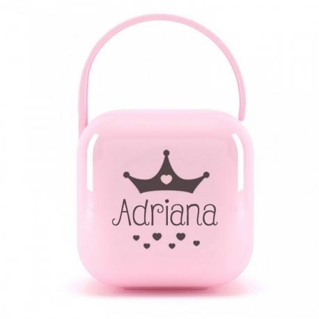 Portachupetes rosa CORONA