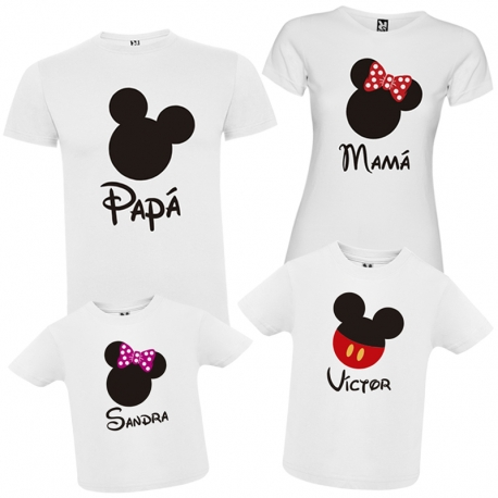 Pack camisetas familia DISNEY + CAJA REGALO