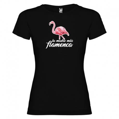 Camiseta purpurina - MADRE FLAMENCA + caja regalo