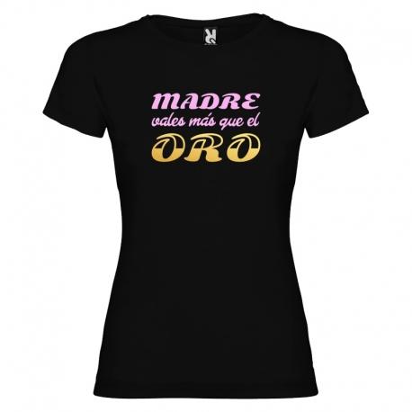 Camiseta purpurina - MADRE ORO + caja regalo