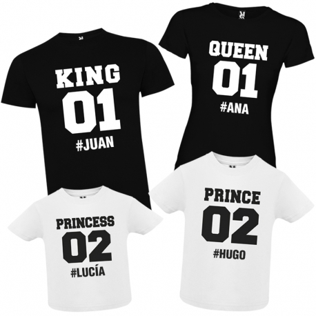 Camisetas familia KING + CAJA REGALO