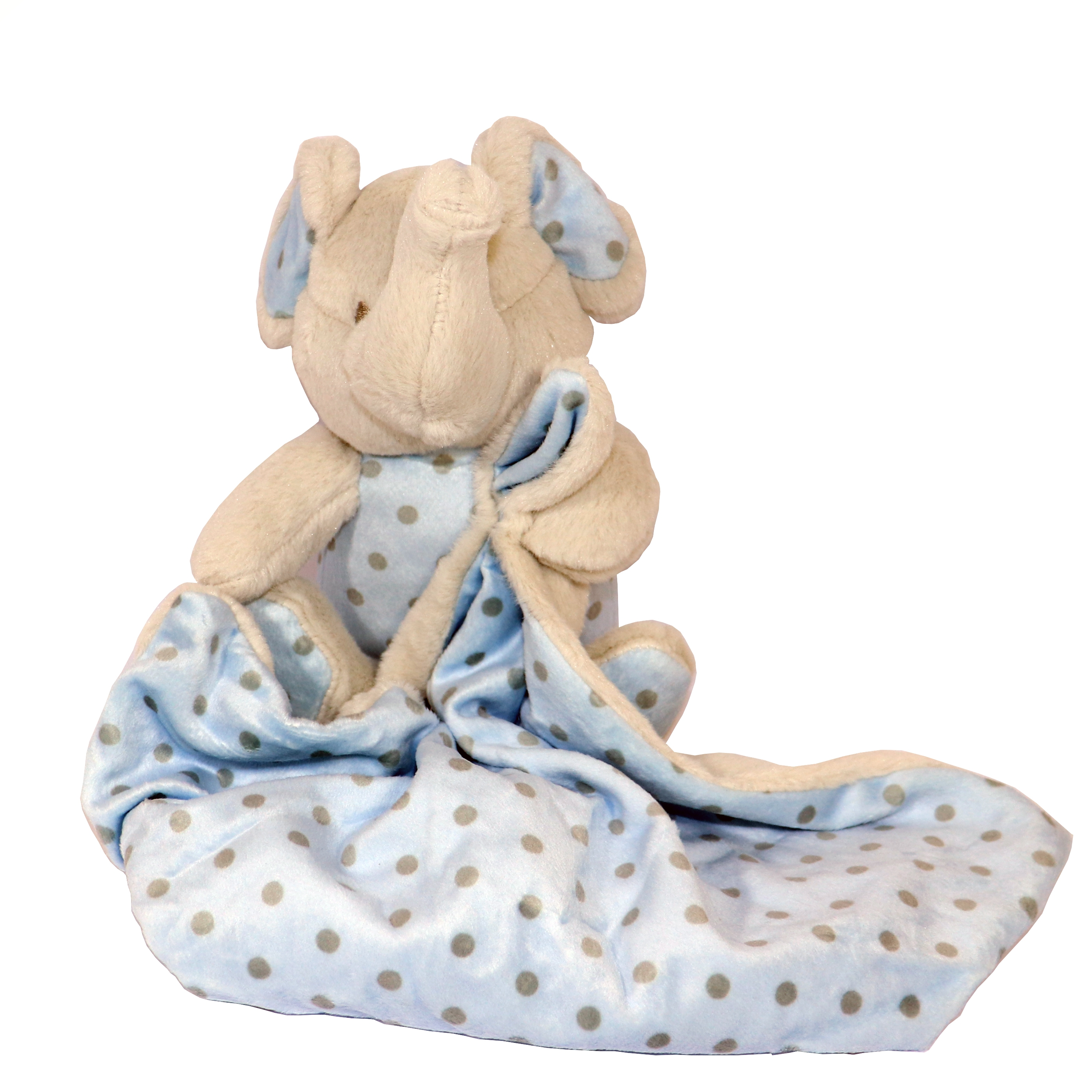 Doudou elefante gris/azul