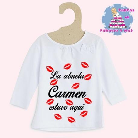 Camiseta besos chica