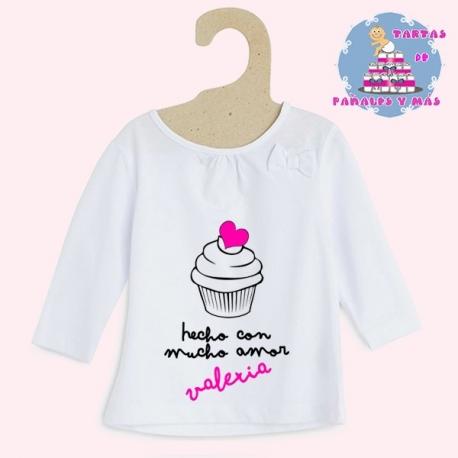 Camiseta cupcake chica