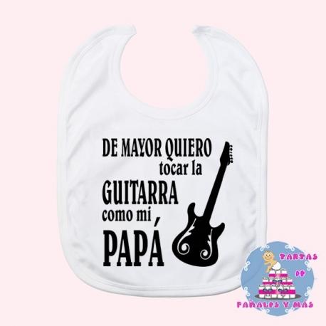 Babero guitarra