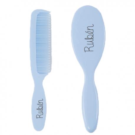 Cepillo y Peine azul