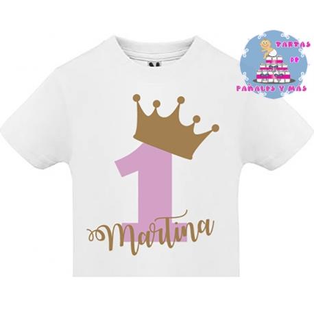 Camiseta cumpleaños PRINCESA