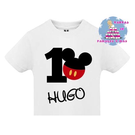 Camiseta PRIMER cumpleaños MICKEY