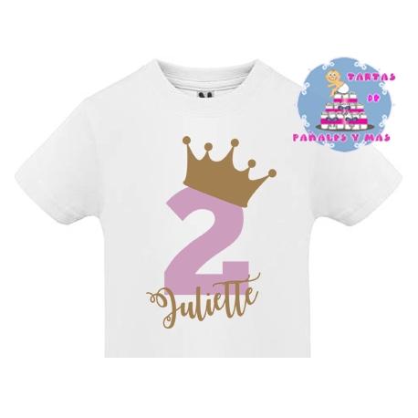 Camiseta SEGUNDO cumpleaños PRINCESA