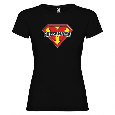 Camiseta purpurina - SUPERMAMÁ + caja regalo