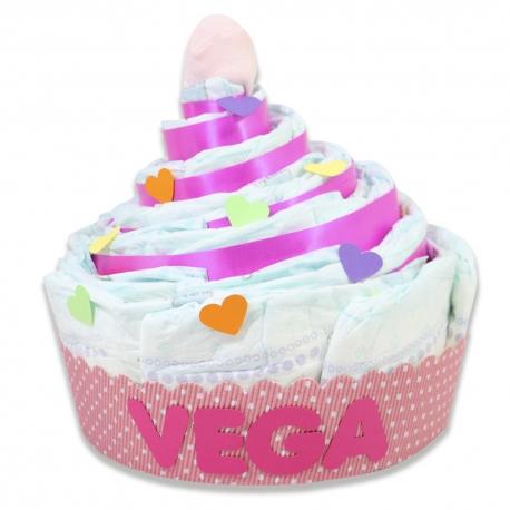 Cupcake de pañales ROSA