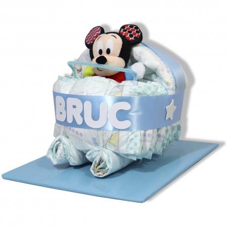 Cochecito de pañales AZUL Mickey