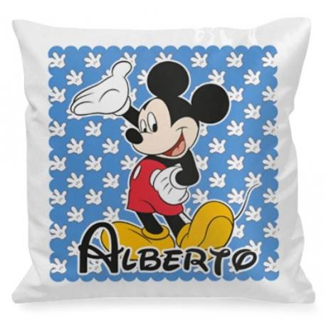 Cojín personalizado Mickey Azul
