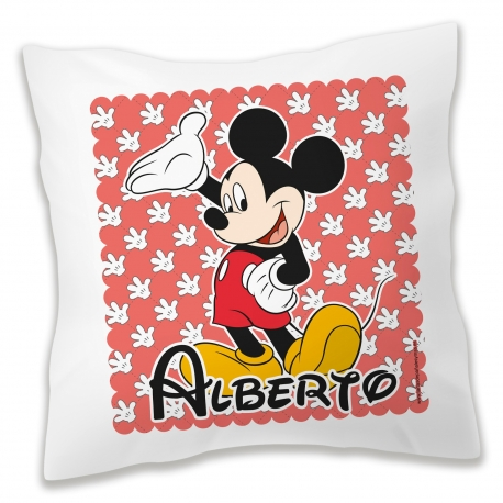 Cojín personalizado Mickey Rojo