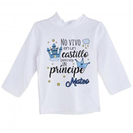 Camiseta cuento personalizada príncipe