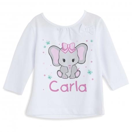 Camiseta personalizada elefanta