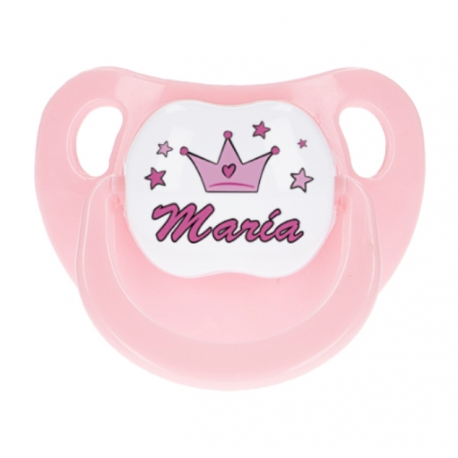 Chupete rosa personalizado princesa