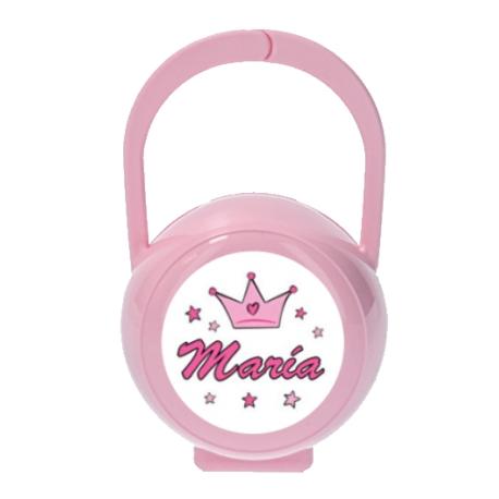 Portachupetes personalizado princesa
