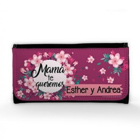 Cartera Monedero - MAMÁ TE QUEREMOS MORADO