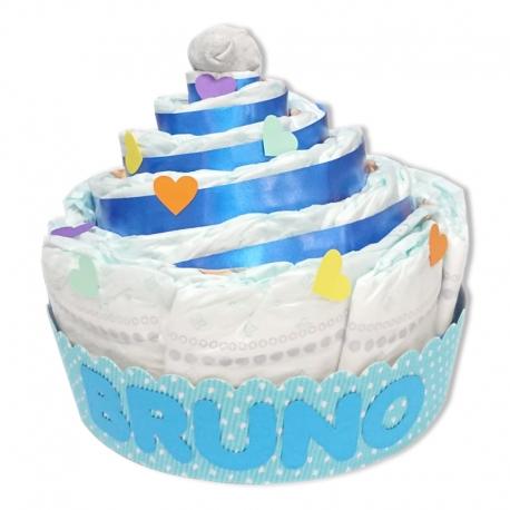 Cupcake de pañales AZUL