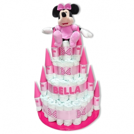 Tarta Castillo ROSA Minnie