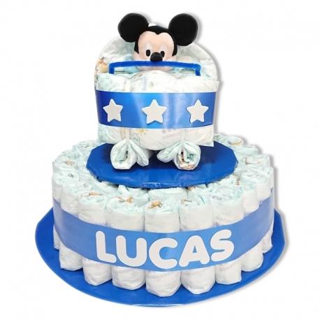 Tarta Cochecito AZUL Mickey