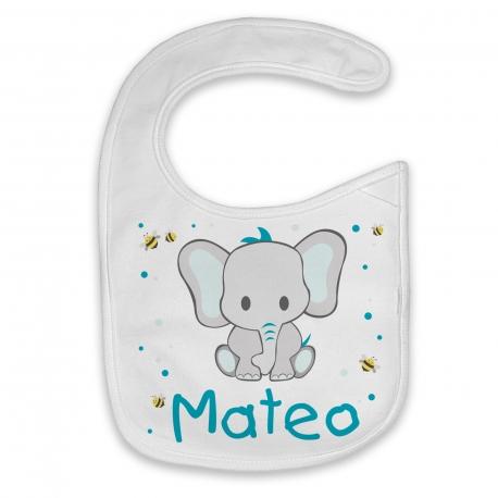 Babero personalizado elefante