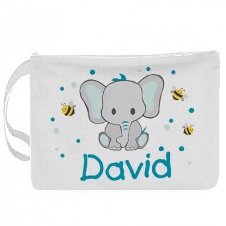 Portapañales personalizado elefante