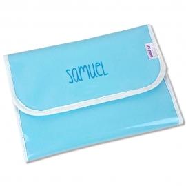 Portadocumentos Gloss Azul Personalizado
