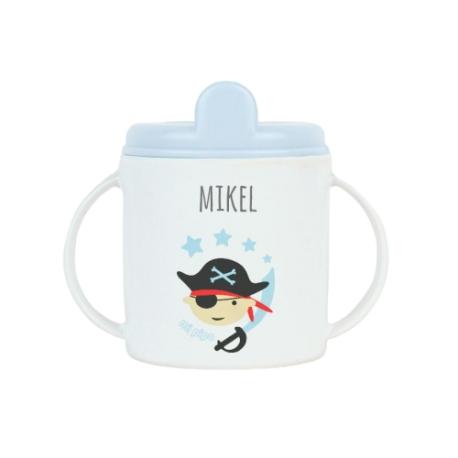 Taza plástico personalizada Pirata