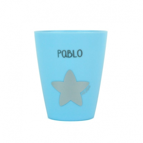 Vaso plástico personalizado Azul