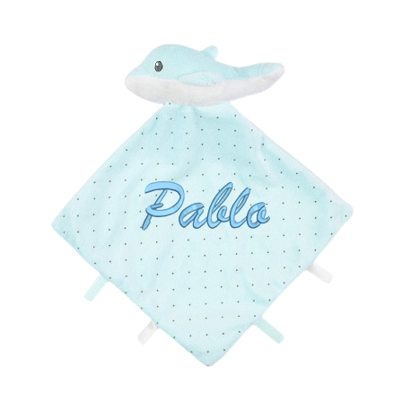 Doudou delfín azul