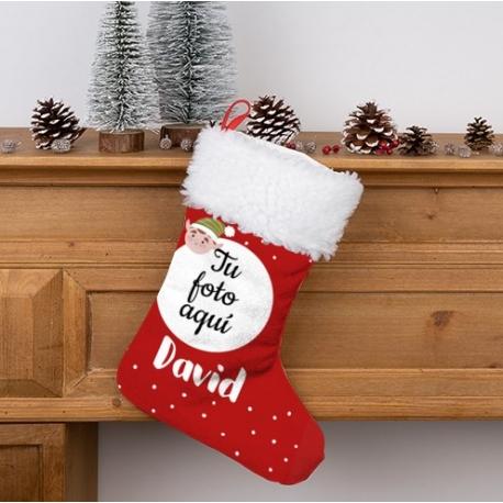 Calcetin Navidad personalizado - Cabeza de reno