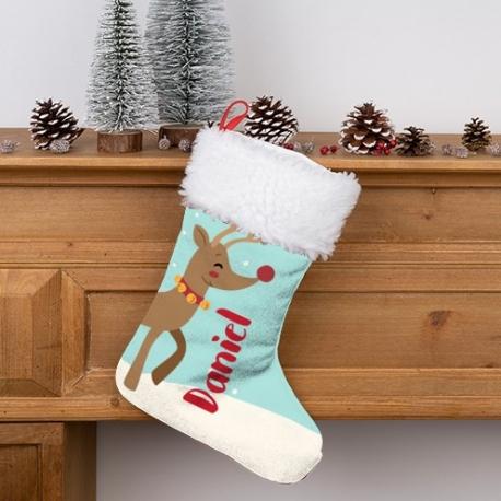 Calcetín Navidad personalizado - Reno