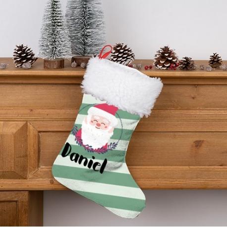 Calcetín Navidad personalizado - Papá Noel