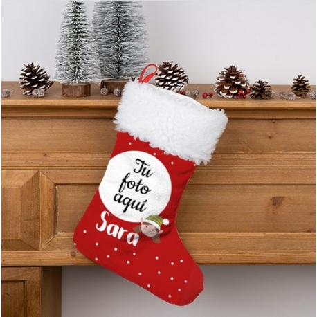 Calcetin Navidad personalizado - Modelo Elfa